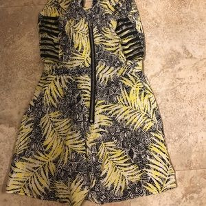black/yellow/white Pants - Yellow and black romper